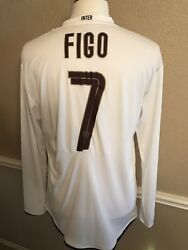 Italy Inter Milan Player Issue Figo Portugal Shirt Football Nike Soccer Jersey