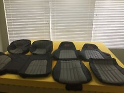 1997-2002 Chevy Camaro Ss Leather Seat Covers In Ebony Black W/pewter Inserts