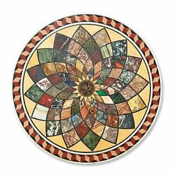 48 Marble Table Top Multi Color Stone Handmade Inlay Work Home Furniture
