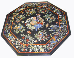 48 Marble Table Top Semi Precious Stone Floral Inlay Marquetry Work Handmade