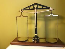 Antique Troemner Bankers / Bullion / Justice Scale 40and039 X 33 3/4 X 12