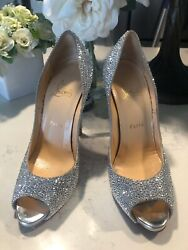 Christian Louboutin Very Riche Peep Toe- Excellent Pre-loved Condition