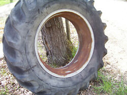 Vintage Ji Case 900 Std Tractor -34 Rear Wheel- Clamp Type And Tire 15 X 34