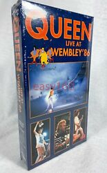 New Sealed Queen Live At Wembley 86 Vhs Tape 1986 Freddie Mercury Brian May Uk