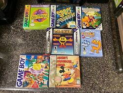 Nintendo Gameboy Color Advance Mickey Game Watch Invaders Chu Chu Lot Of 7