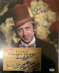 Gene Wilder Autographed 11x14 Pic Photo Charlie And The Chocolate Factory Psa