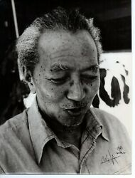 Wilfredo Lam Original Autograph Photo Signed 8 X 10 Inches Art With Drawing