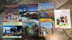 Lot 7 Children Picture Books Pilgrims First Thanksgiving Story Feast Indians Pb
