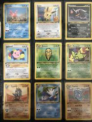 Nm Pokemon Complete Set Common Uncommon Cards Neo Discovery 1st Edition Ed1 Wotc