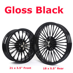 21 18and039and039 Fat Spoke Front Rear Cast Wheels Single Disc For Dyna Softail Touring