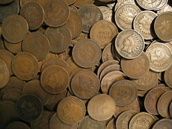 @ LARGE COLLECTION OF INDIAN HEAD CENT PENNY COINS 1858 1909 @ OLD ESTATE SALE @