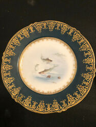 Theodore Haviland 9 Salad Plates And Platter Limoges France Fish Pattern China