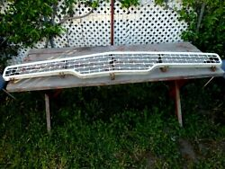 1959 Ford Fairlane Galaxie Front Grille Trim Moulding With Mounting Brackets Oem