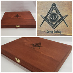 Masonic Box For Items Collectibles Masonry Masonic Case Collectables