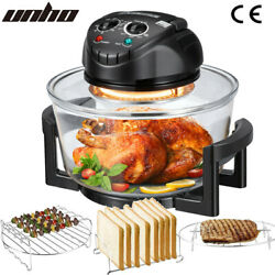 Large Sized 17l Glass Air Fryer Convection Oven Halogen Roaster Cooker Oil Free