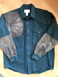 Filson Mens L Shooting Shirt Right Padded Shoulder Heavy Weight Cotton Hunt USA $62.99
