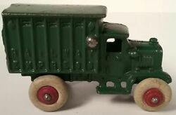 Hubley Cast Iron Railway Express Toy Delivery Truck 1930and039s Fantastic 3 3/4 Long