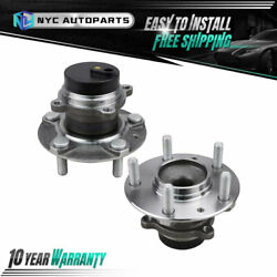 Pair Front Wheel Hub Bearing For 2009-2011 Mazda Rx-8 Dynamic Stability Control