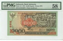 Collectible And Rare  Indonesia 10,000 Rupiah 1975