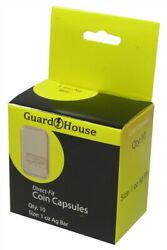 30 Guardhouse 1 Oz Silver Bar / Ingot Direct Fit Round Coin Capsules Holders