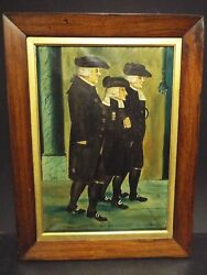 1901 Rare Branston Oil Paint Of John Wesley At 87 Yrs Old W J Hamilton And J Cole