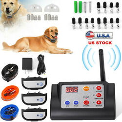 Wireless Electric Dog Fence Pet Containment System Shock Collar For 1/2/3 Dog Us