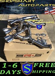 Srs Turboback Exhaust Systems Muffler Delete For 15- 20 Wrx Polish Axleback