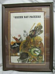 """Extremely Rare Vintage Original 1967 Nfl """"green Bay Packers"""" Poster By T. Smith"""