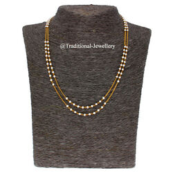 22kt Gold Pearls Chain Women Necklace Chain Custom Size Available Unisex Chain