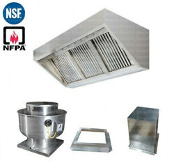 6and039 Ft Concession Trailer Food Truck Hood System Captiveaire Fan 1000 Cfm