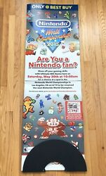 Unused Nintendo World Championships 2015 Nwc 5 Feet Tall Standee Double Sided