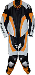 Rtx Halo Neon Orange And Black Motorcycle Ktm Sports Biker One Piece Leather Suit