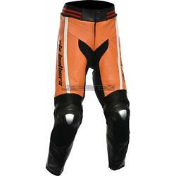Rtx Akira Sports Biker Red Blue Grey Or Yellow Motorcycle Leather Trouser Pants