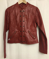 Emanuellandrsquos Leather Jacket Red Small