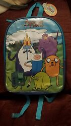 ADVENTURE TIME Backpack Finn Jake Beemo Ice King Book Bag School NEW w TAGS $25.00