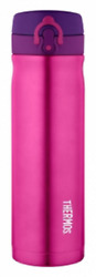 Thermos Vacuum Insulated Drink Bottle 470ml Double Wall, Stainless Steel Pink