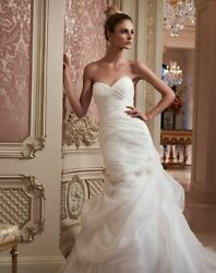 Wedding Dress Casablanca 2088 Ivory Size 14 Strapless Sweetheart Fitted Bodice