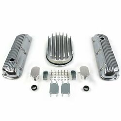 Sbf 12 Deep Oval/finned Engine Dress Up Kitw/ Breathers Pcv 289-351 Rat
