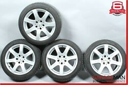 07-09 Mercedes W211 E350 Complete Front And Rear Side Wheel Tire Rim Set R17 Oem