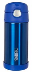 Thermos Funtainer Vacuum Insulated Drink Bottle 355ml Stainless Steel Blue