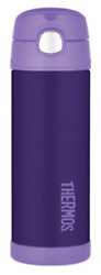 Thermos Insulated Vacuum Drink Bottle 470ml Stainless Steel Purple