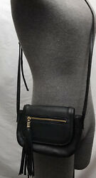 Unbranded Small Black Shoulder Purse Evening Bag. Gold Hardware. Fringe Tassal. $5.00