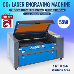 Omtech Upgraded 60w 24x16 Co2 Laser Engraver Cutting With Lightburn Ruida