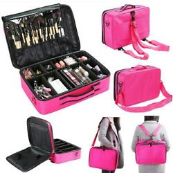 Extra Large Oxford Storage Beauty Makeup Nail Salon Cosmetic Travel Case Pink $24.99
