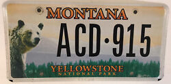 Yellowstone National Park License Plate Canyon Old Faithful Hayden Lamar Valley
