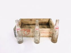 Vintage Rc Wooden Crate With 3 Bottles