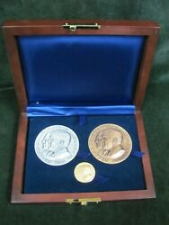 Official 2005 Presidential Inaugural Medal Set - Gold Silver Bronze