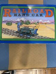 Schylling Collection Series Railroad Hand Car New 1999 Tin Box Collectors Toy