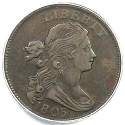 1803 S-252 R-2 Pcgs Vf30 Sm Date Sm Frac Draped Bust Large Cent Coin 1c