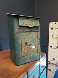 Original Antique French Green Post Box Royalmail Postbox Letters Rare